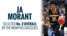 Grizzlies select Ja Morant in 2019 NBA Draft