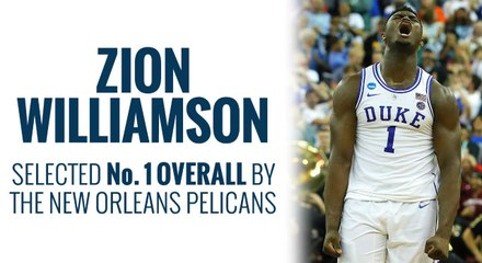 Pelicans select Zion Williamson in the 2019 NBA Draft