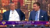 The Knicks Select RJ Barrett Third Overall