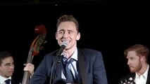 """Tom Hiddleston performing """"Hey Good Lookin'"""" by Hank Williams. For those who don't know, Hiddleston played Williams in the film """"I Saw The Light"""", also starring Elizabeth Olsen"""