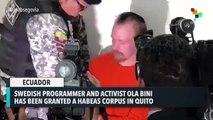 Ola Bini Granted Habeas Corpus in Ecuador