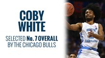 Bulls select Coby White in 2019 NBA Draft