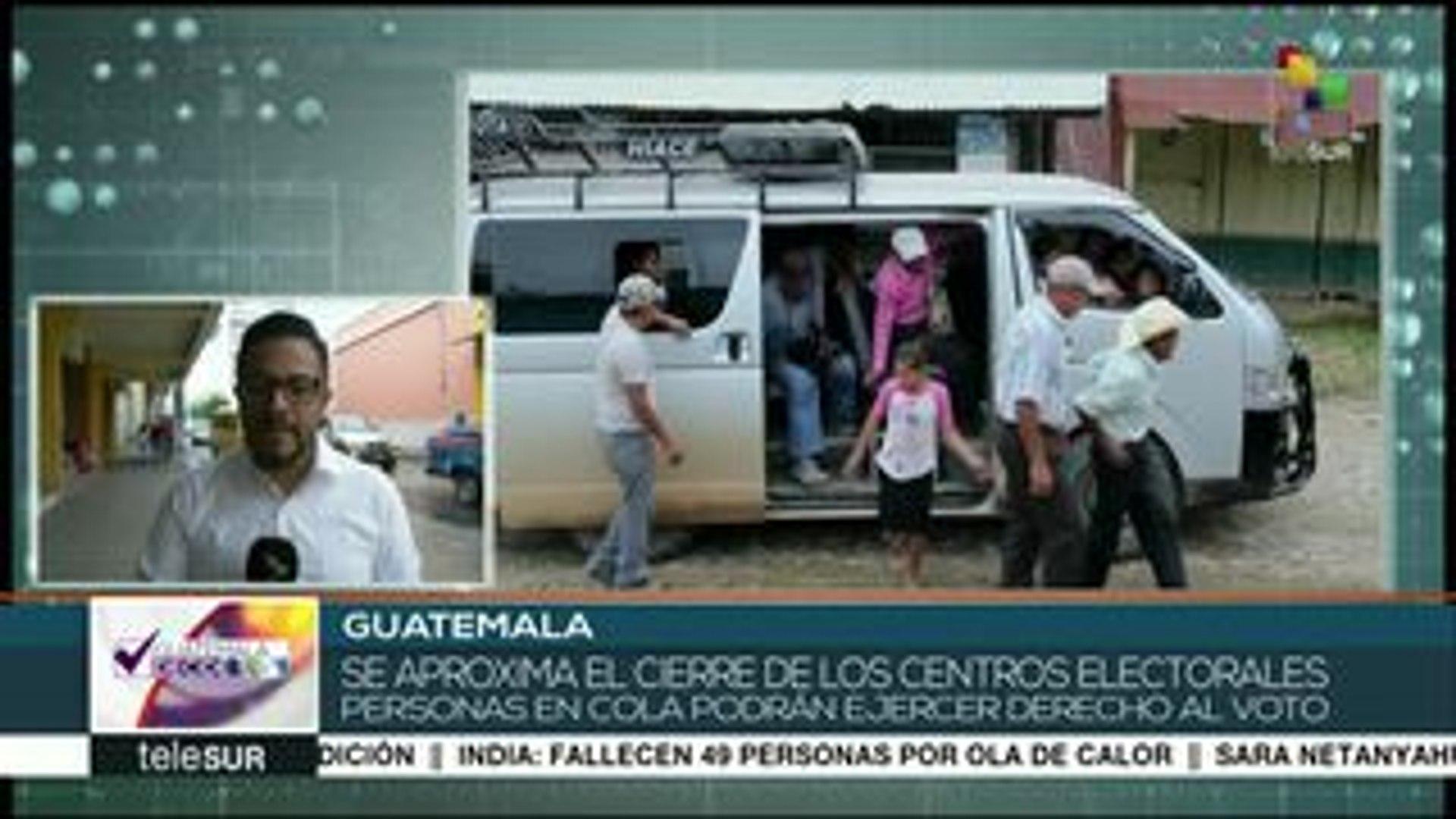 En breve cerrarán los centros de votación en la elección guatemalteca
