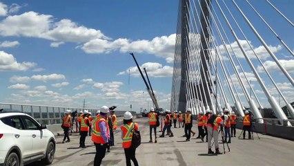 Visite du chantier du pont Samuel-De Champlain