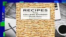 [BEST SELLING]  Recipes Every College Student Should Know (Stuff You Should Know)