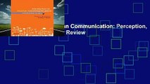 Introduction to Human Communication: Perception, Meaning, and Identity  Review
