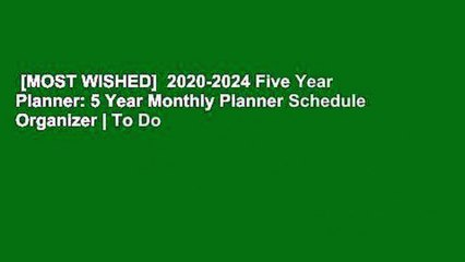 MOST WISHED] 2020-2024 Five Year Planner: 5 Year Monthly