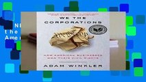 [NEW RELEASES]  We the Corporations: How American Businesses Won Their Civil Rights