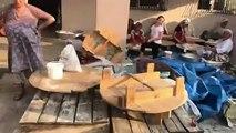 Binlerce tandır ekmeği, kazanlarla yemek yaptılar! Adanalı kadınlardan İmamoğlu'na büyük destek