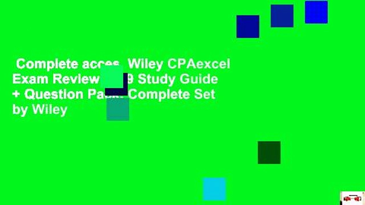 Wiley CPAexcel Exam Review 2019 Study Guide Question Pack Regulation