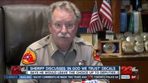 Sheriff Youngblood discusses 'In God We Trust' decals
