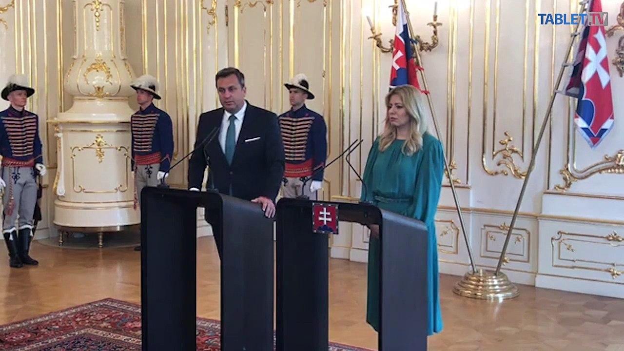 ZÁZNAM: Brífing prezidentky Z. Čaputovej a predsedu NR SR A. Danka