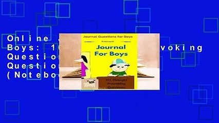 online journal for boys 101 thought provoking questions journal questions for boys notebook