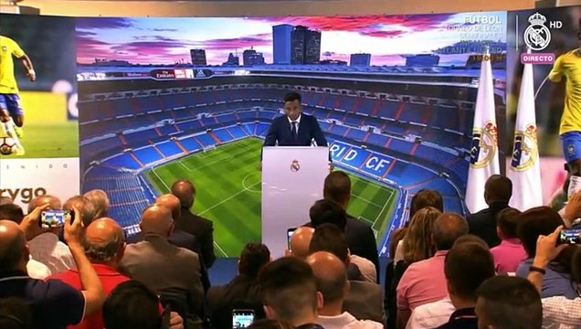 Palabras de Rodrygo durante su presentación en el Real Madrid