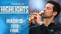 Novak Djokovic Wins Madrid, 33rd Masters 1000 Title!   Madrid 2019 Final Highlights