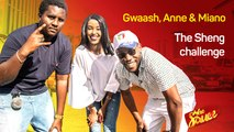 Gwaash schools Miano Muchiri and Anne Mwaura as they take on The Sheng Challenge | The Sauce
