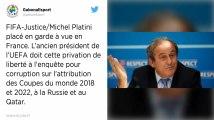 Attribution du Mondial 2022 au Qatar. Michel Platini placé en garde à vue