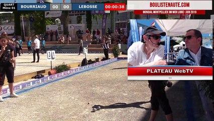 Mondial à pétanque féminin de Montpellier 3M Midi Libre : Quart RODRIGUEZ vs DURAND
