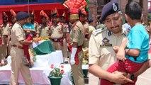 Anantnag Martyr Arshad Khan के बेटे को गोद में उठाकर रो पड़े Officer | वनइंडिया हिंदी