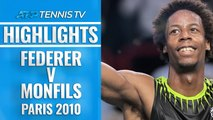 Dramatic Moments in Epic Monfils v Federer Match | Paris 2010