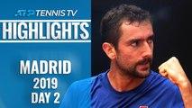 Cilic Snaps Losing Streak; Khachanov And Monfils Impress   Madrid Open 2019 Highlights Day 2