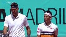 Del Potro - Nishikori v Fognini - Lindstedt: Great Points - Winning Moment | Madrid 2019
