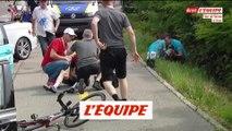 Geraint Thomas victime d'une chute - Cyclisme - Tour de Suisse - 4e étape