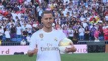 Eden Hazard pisa el césped del Bernabéu como jugador del Real Madrid