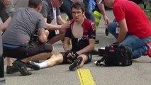 Cycling - Tour de Suisse - Geraint Thomas Crash,  Elia Viviani wins Stage 4, Sagan in yellow