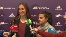 Jugadoras de Madrid Club Femenino, orgullosas por el sorteo