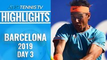 Nadal Survives Scare To Set Ferrer Clash ; Shapovalov Out | Barcelona Open 2019 Highlights Day 3