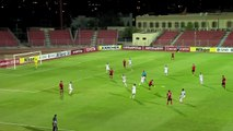 Al Jaish's Mohammed Al Wakid scores a wonder goal from inside his own half in the AFC Cup