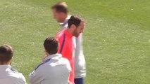 Godín ya se entrena con el Atlético, pero al margen de sus compañeros