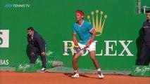 INSANE Rafa Nadal Jumping Forehand Winner! | Monte-Carlo 2019