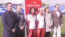 Presentación del partido de la selección femenina en Leganés