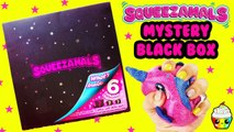 Squeezamals MYSTERY BLACK BOX 6 Exclusive Plush Animal Squishies
