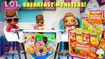 BREAKFAST MONSTERS Plushies LOL Dolls have Breakfast Monsters At The LOL House