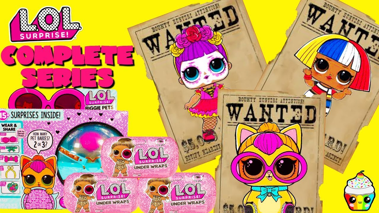 Completing LOL Surprise Under Wraps Wave 2   Biggie Pets Wave 1 – 2