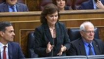 Calvo reprocha a Dolors Montserrat las conversaciones entre la ex secretaria del PP y Villarejo