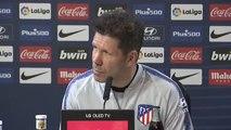 """Simeone sobre el clásico: """"Lo que le interesa al aficionado del Atlético de Madrid es que gane el Atlético de Madrid"""""""
