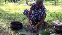 Village de la Nourriture  Cuisine Lac Curry de Poisson dans mon Village par la grand-mère