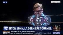 Les fans toujours conquis par Elton John, lors du 100e concert de sa tournée d'adieu