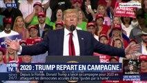C'est en gardant les mêmes thèmes qu'en 2016 que Donald Trump lance officiellement sa campagne pour les présidentielles de 2020