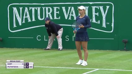 20190618 WTA Birmingham R1 Harriet Dart 0-2 Yulia Putintseva - 2nd Set 3 Break Games & SFM