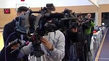 Gran expectación mediática en el entrenamiento del Real Madrid de Baloncesto previo al choque de Euroliga ante el Bayern