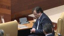 Vara y Monago en el Pleno de la Asamblea de Extremadura