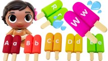 Best Kid Learning Video to Learn the Alphabet Popsicles with Baby Moana