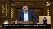 Garzón pide al Gobierno que siga la legislatura aunque tumben los PGE