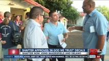 Shafter approves 'In God We Trust' decals