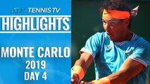Nadal Strolls As Thiem and Zverev Progess, Nishikori Beaten   Monte-Carlo 2019 Highlights Day 4